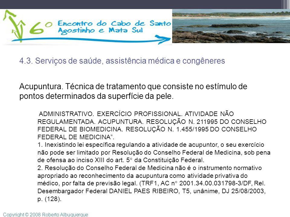 4.3. Serviços de saúde, assistência médica e congêneres