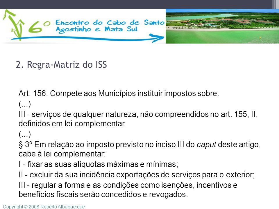 2. Regra-Matriz do ISS