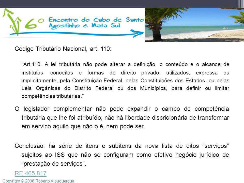 Código Tributário Nacional, art. 110:
