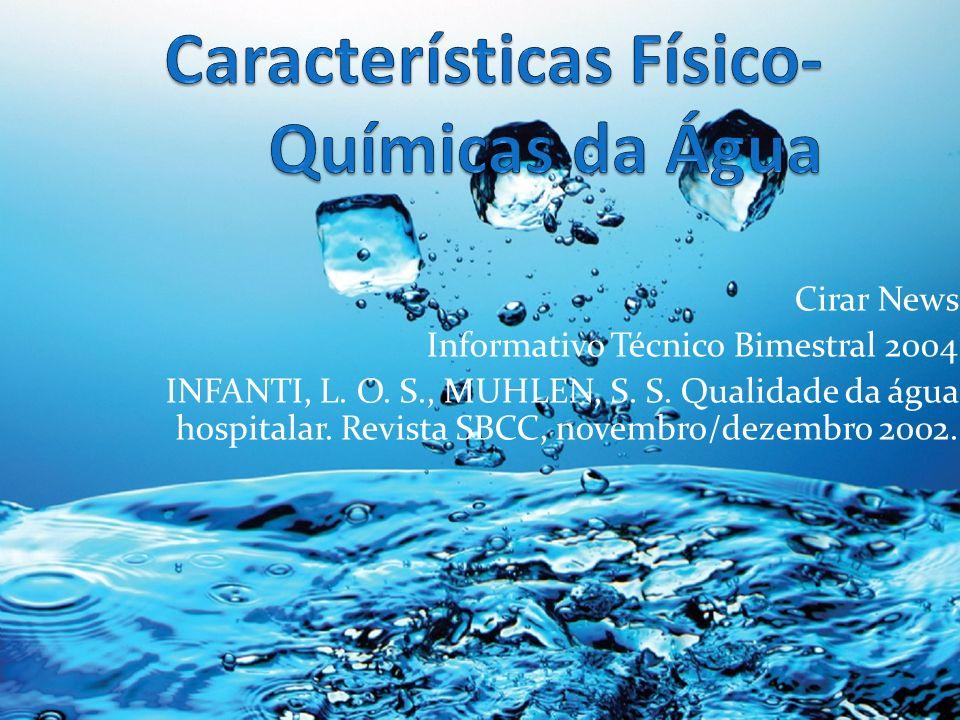Características Físico-Químicas da Água