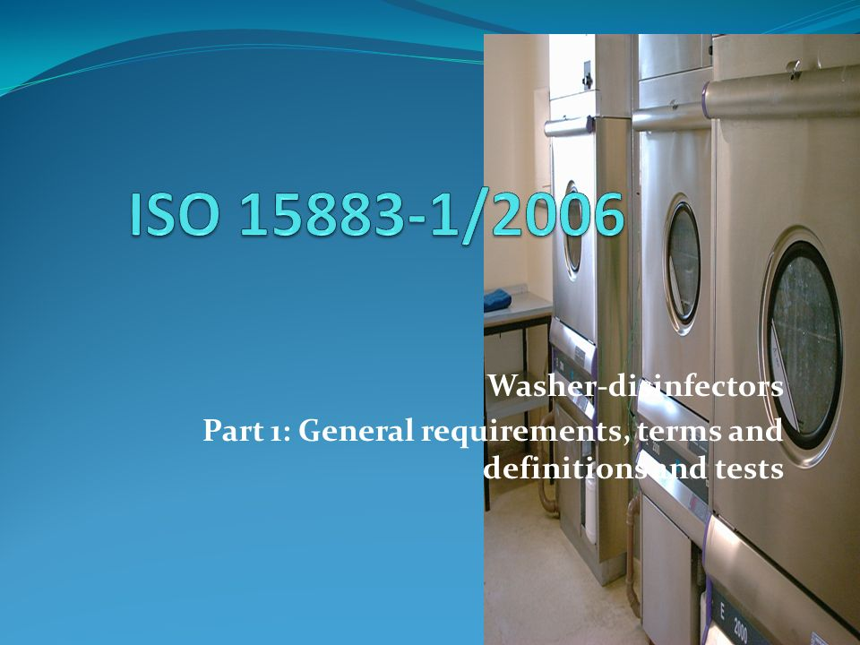 ISO 15883-1/2006 Washer-disinfectors