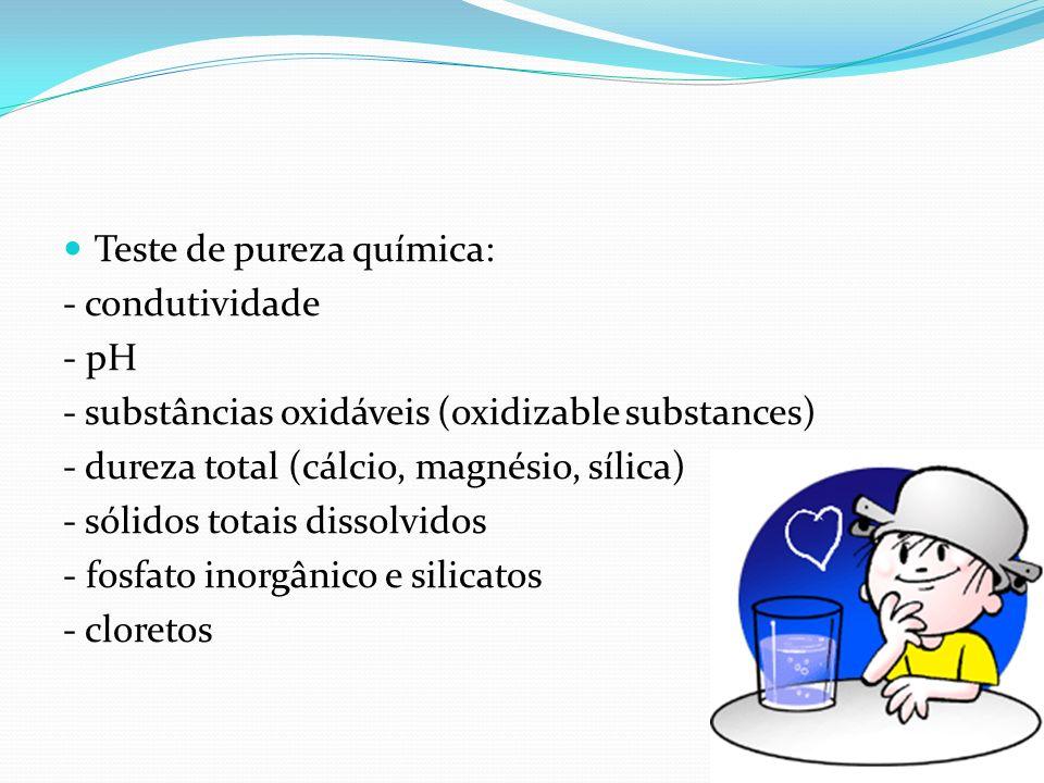 Teste de pureza química: