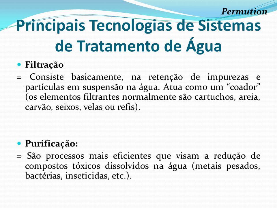 Principais Tecnologias de Sistemas de Tratamento de Água