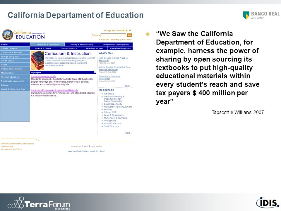 California Departament of Education