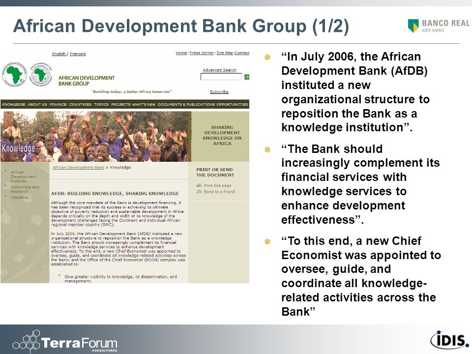 African Development Bank Group (1/2)