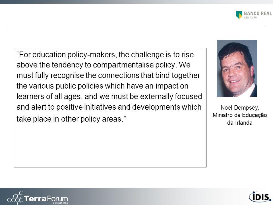 Noel Dempsey, Ministro da Educação da Irlanda