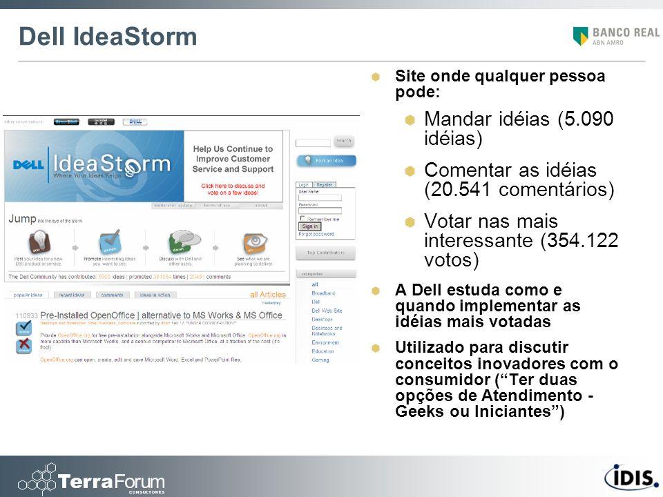 Dell IdeaStorm Mandar idéias (5.090 idéias)
