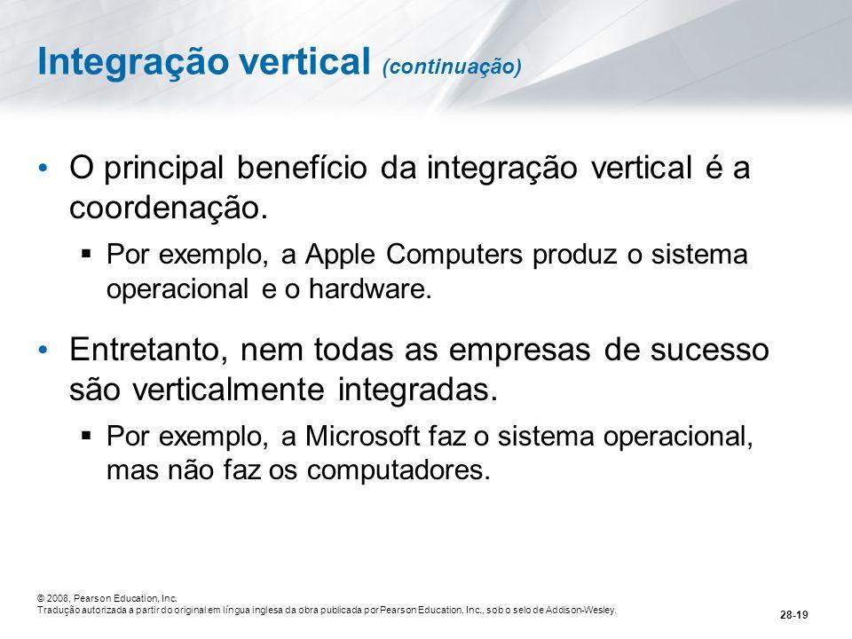 Integração vertical (continuação)