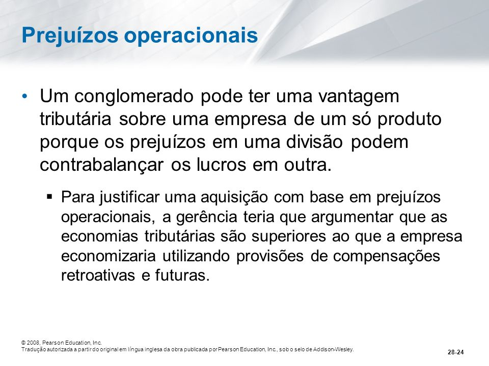 Prejuízos operacionais