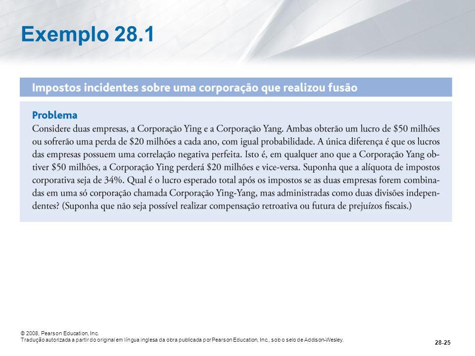 Exemplo 28.1 © 2008, Pearson Education, Inc.