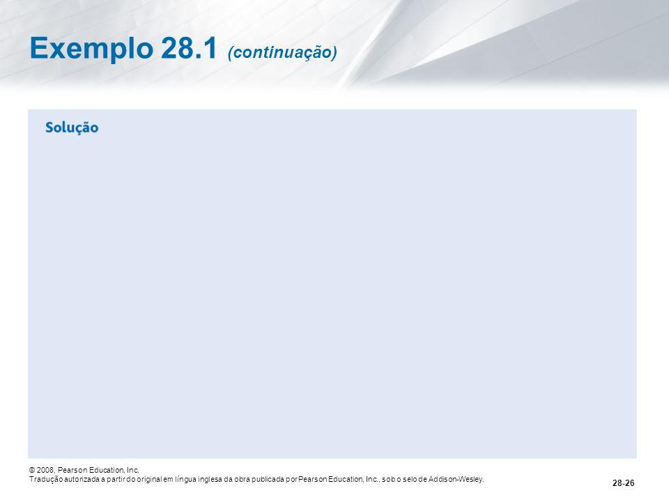 Exemplo 28.1 (continuação)