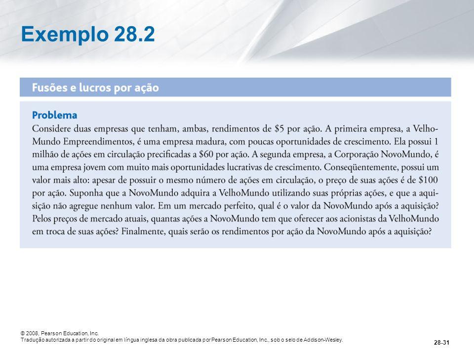 Exemplo 28.2 © 2008, Pearson Education, Inc.