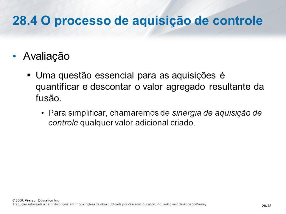 28.4 O processo de aquisição de controle