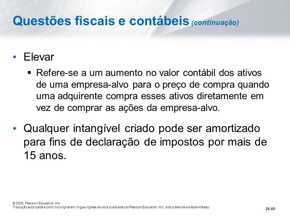 Questões fiscais e contábeis (continuação)