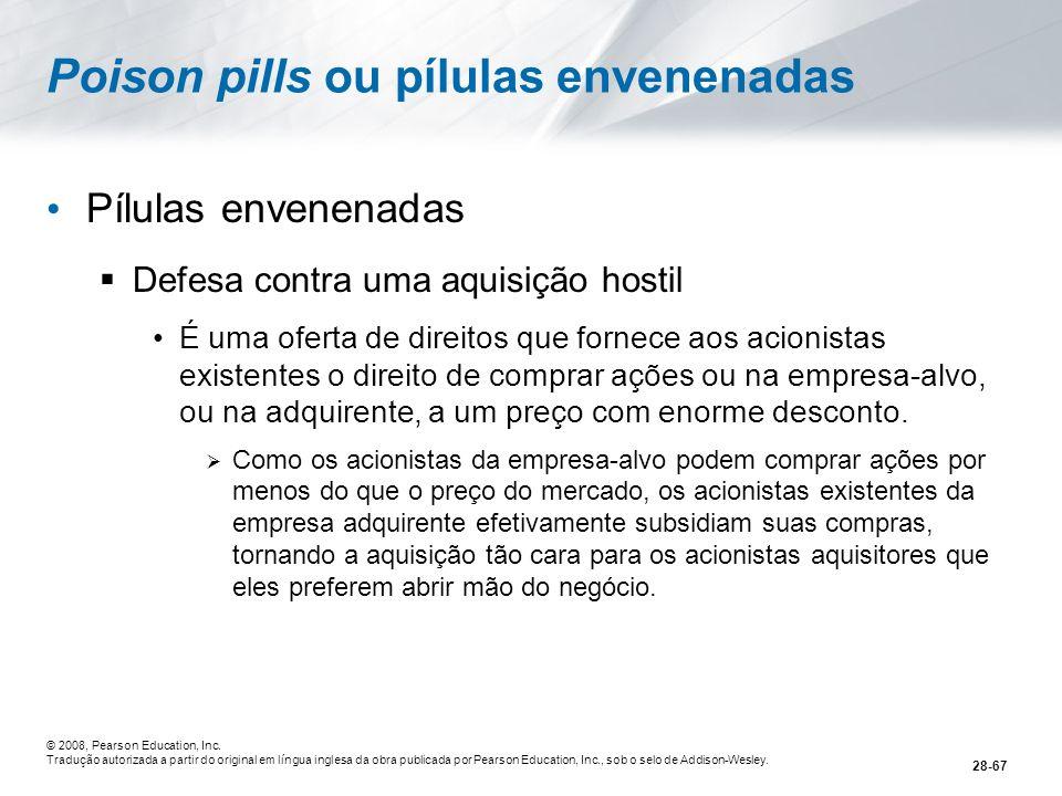 Poison pills ou pílulas envenenadas