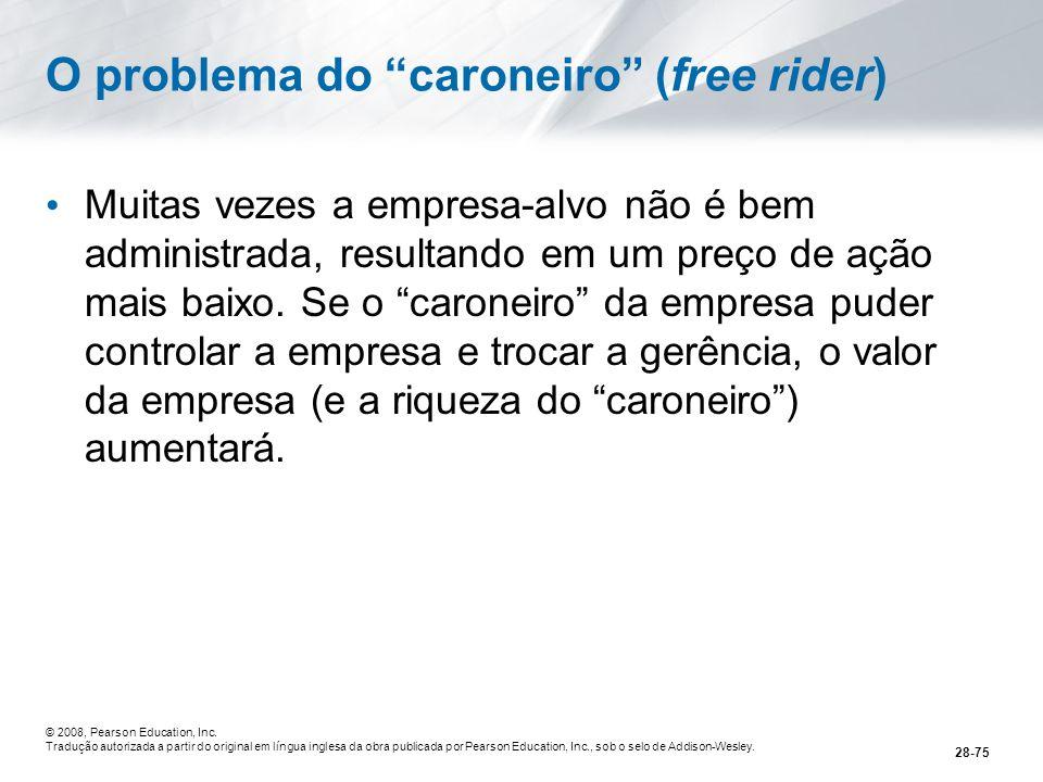 O problema do caroneiro (free rider)