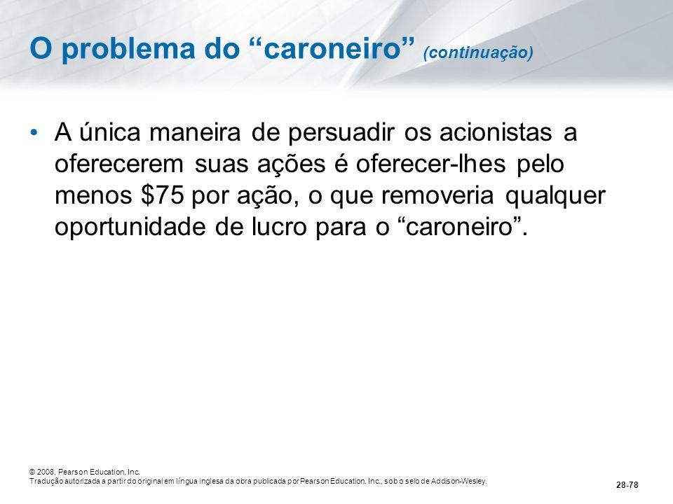 O problema do caroneiro (continuação)