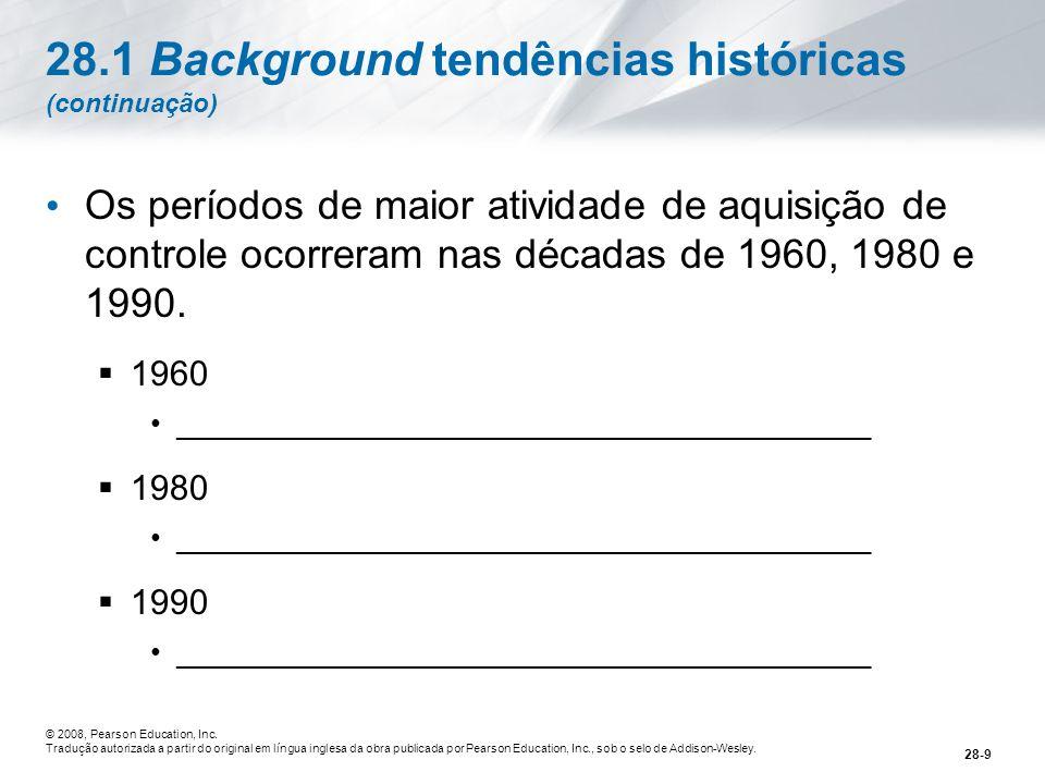 28.1 Background tendências históricas (continuação)