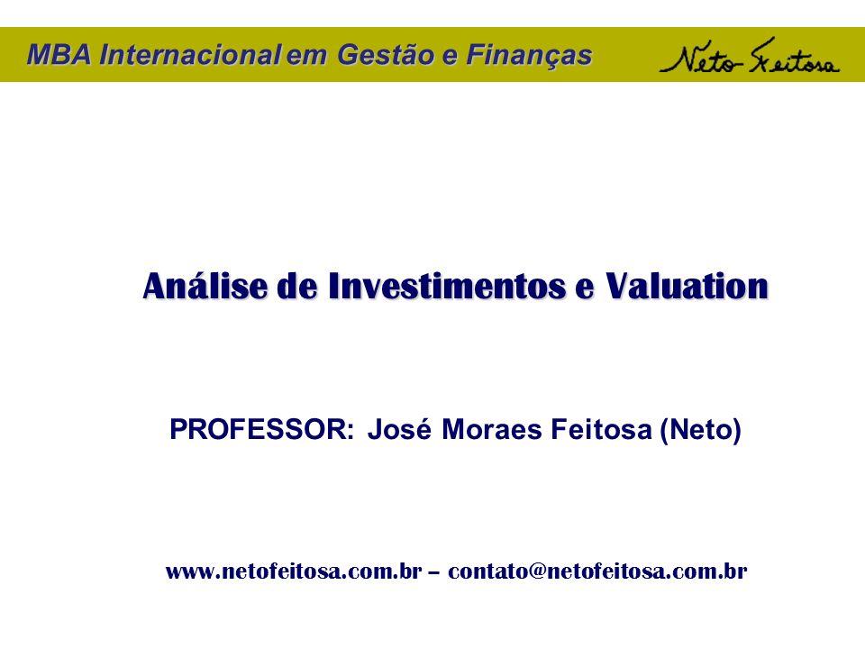 Análise de Investimentos e Valuation