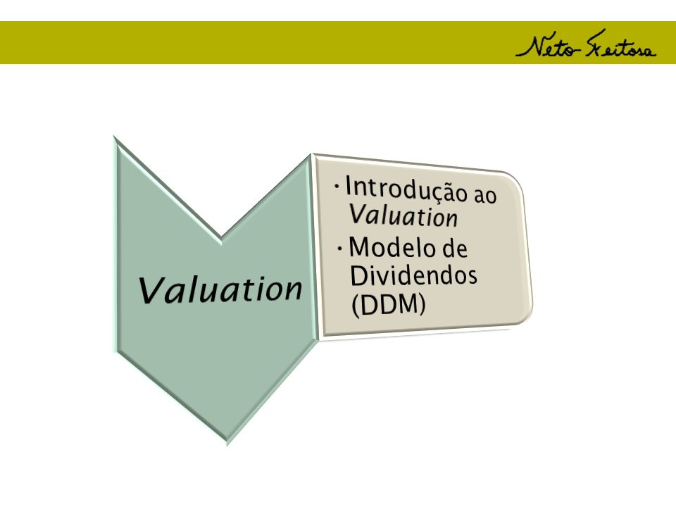Valuation Introdução ao Valuation Modelo de Dividendos (DDM)