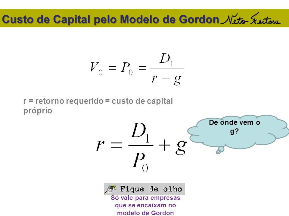 Custo de Capital pelo Modelo de Gordon