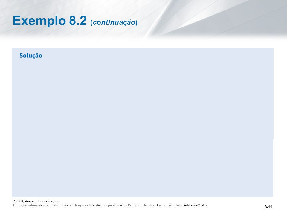 Exemplo 8.2 (continuação)