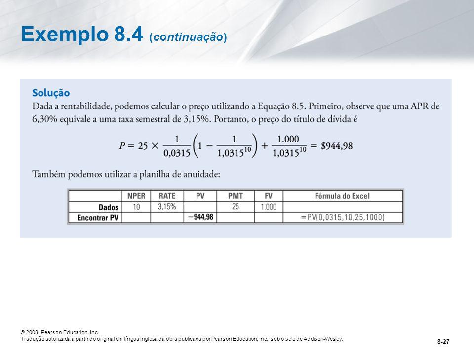 Exemplo 8.4 (continuação)