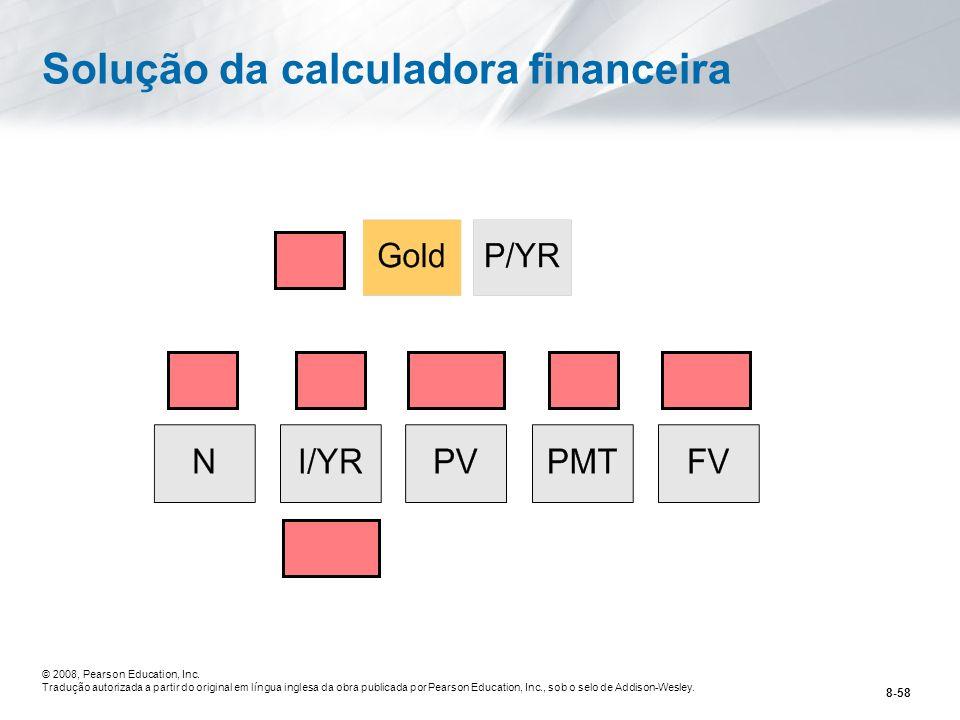 Solução da calculadora financeira