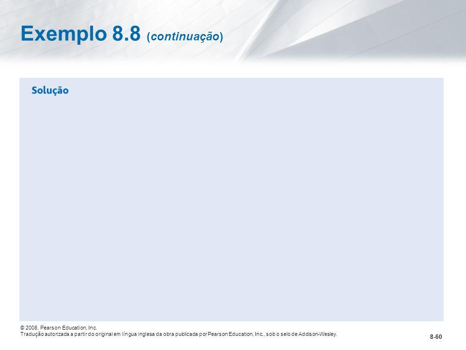 Exemplo 8.8 (continuação)