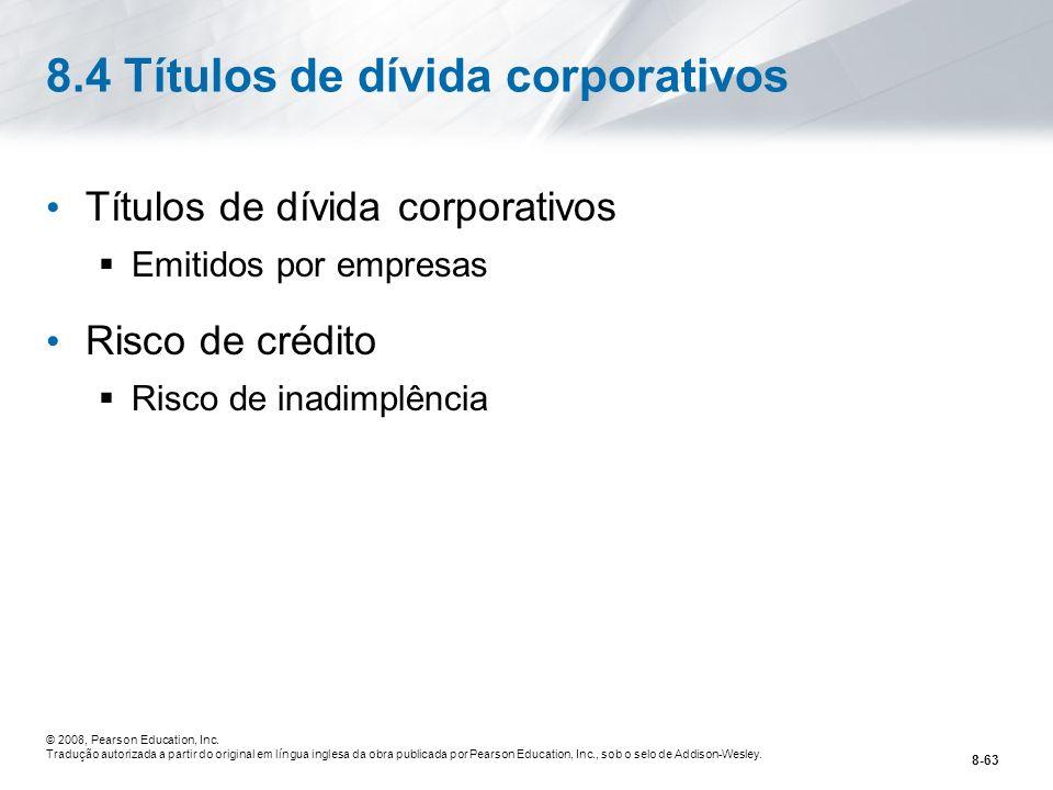 8.4 Títulos de dívida corporativos