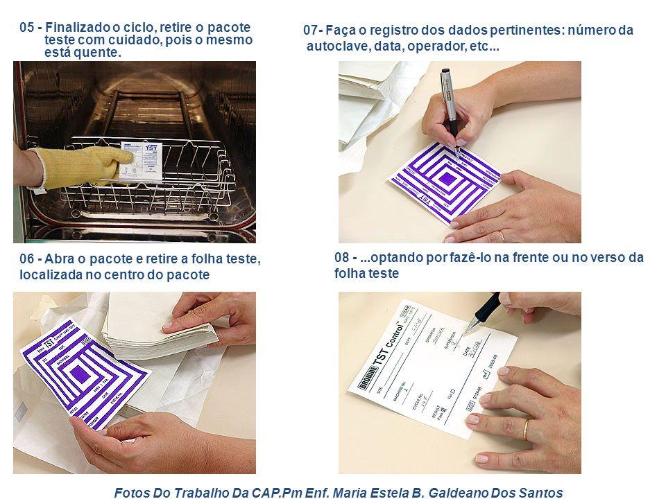 Fotos Do Trabalho Da CAP.Pm Enf. Maria Estela B. Galdeano Dos Santos