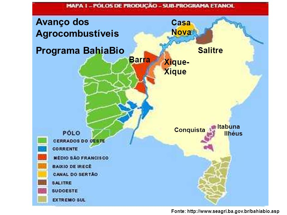 Avanço dos Agrocombustíveis Programa BahiaBio