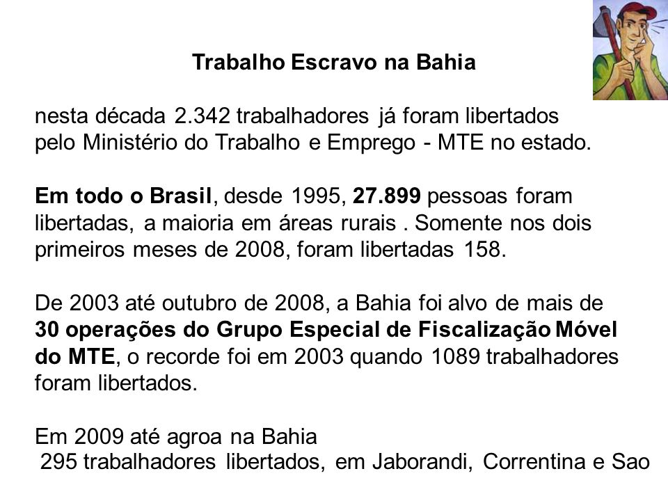 Trabalho Escravo na Bahia