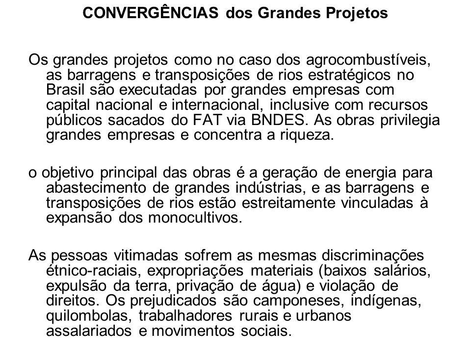 CONVERGÊNCIAS dos Grandes Projetos