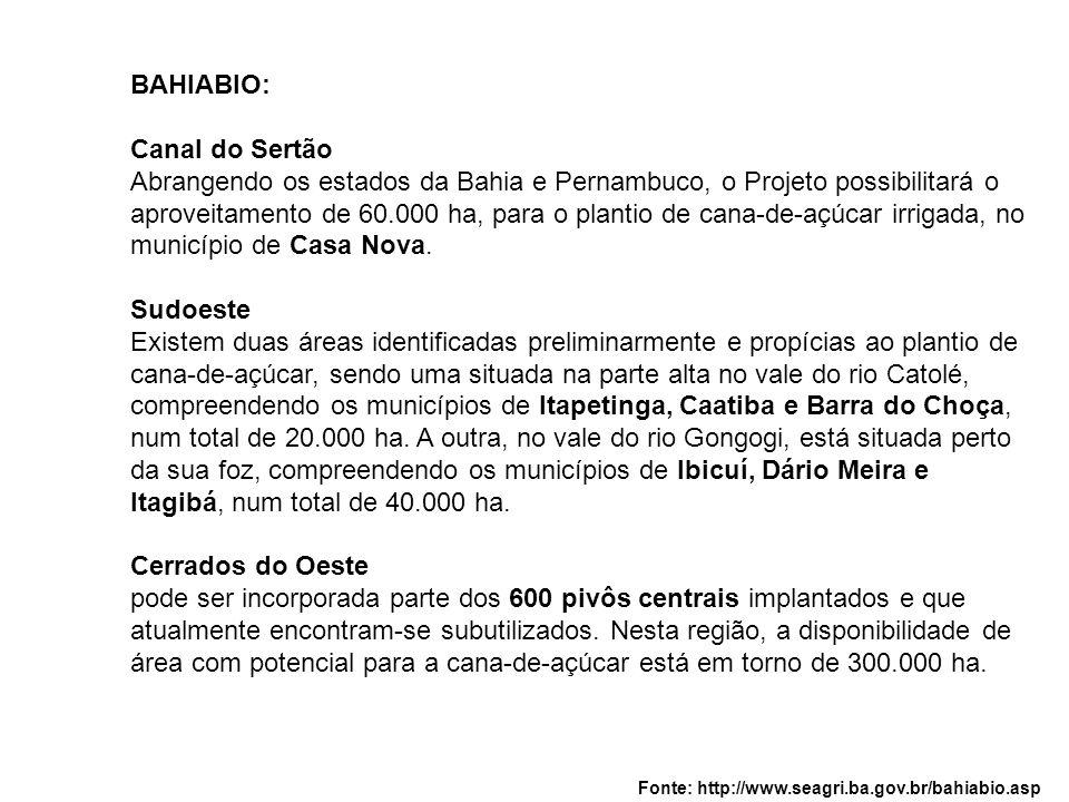Abrangendo os estados da Bahia e Pernambuco, o Projeto possibilitará o