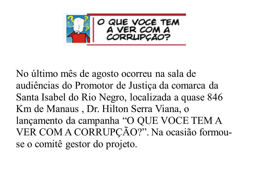 No último mês de agosto ocorreu na sala de audiências do Promotor de Justiça da comarca da Santa Isabel do Rio Negro, localizada a quase 846 Km de Manaus , Dr.