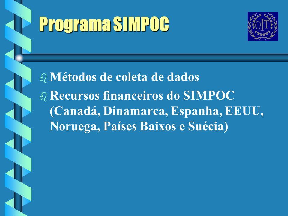 Programa SIMPOC Métodos de coleta de dados