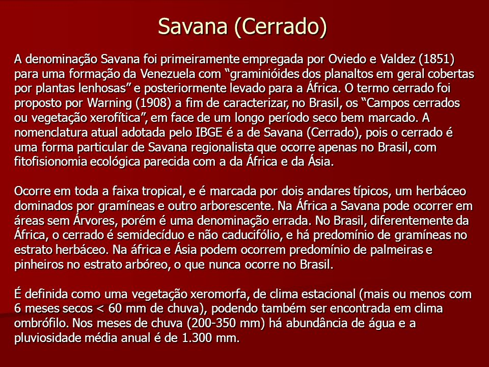 Savana (Cerrado)