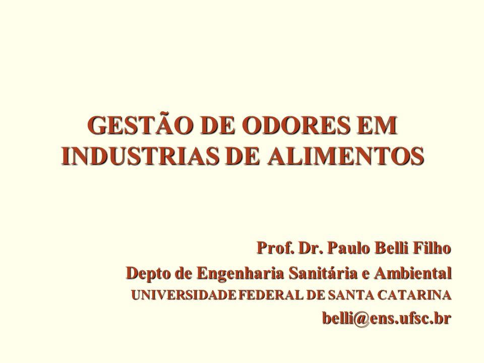GESTÃO DE ODORES EM INDUSTRIAS DE ALIMENTOS