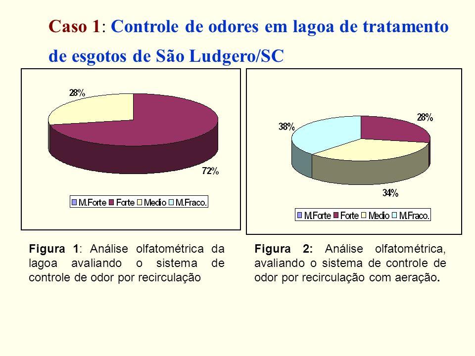 Caso 1: Controle de odores em lagoa de tratamento de esgotos de São Ludgero/SC