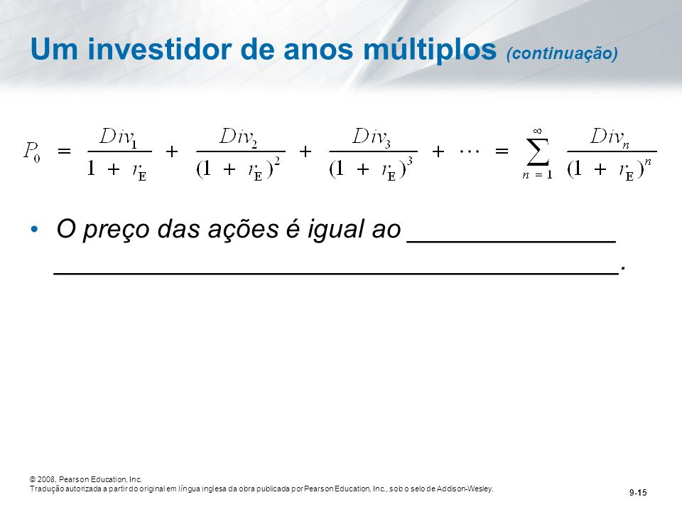 Um investidor de anos múltiplos (continuação)