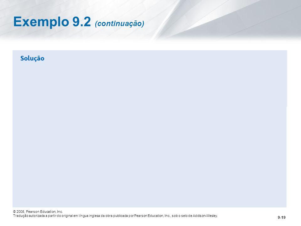 Exemplo 9.2 (continuação)