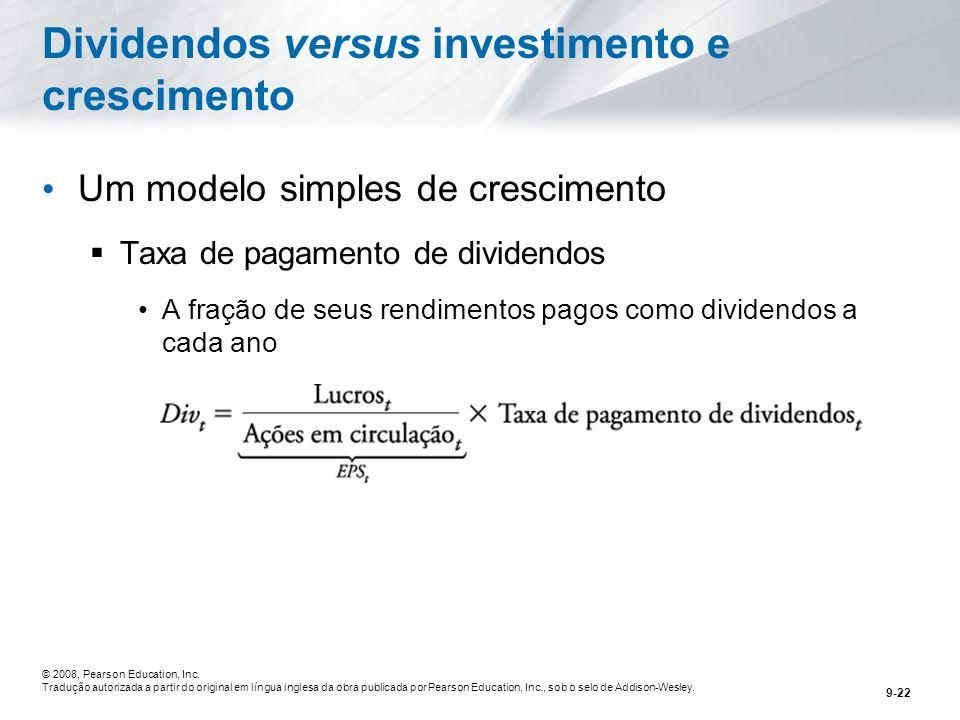 Dividendos versus investimento e crescimento