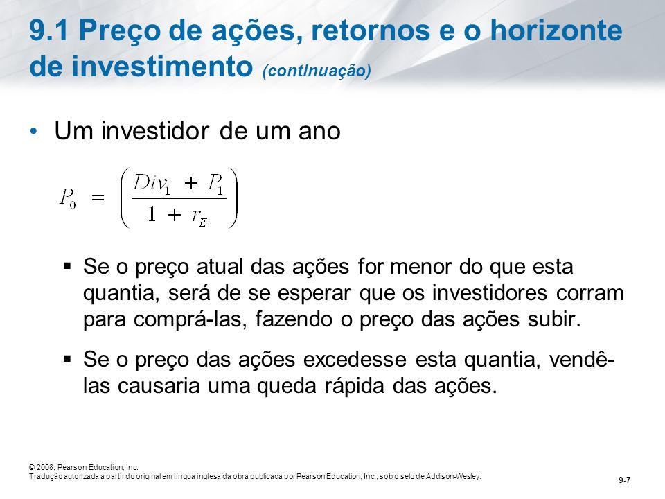 9.1 Preço de ações, retornos e o horizonte de investimento (continuação)
