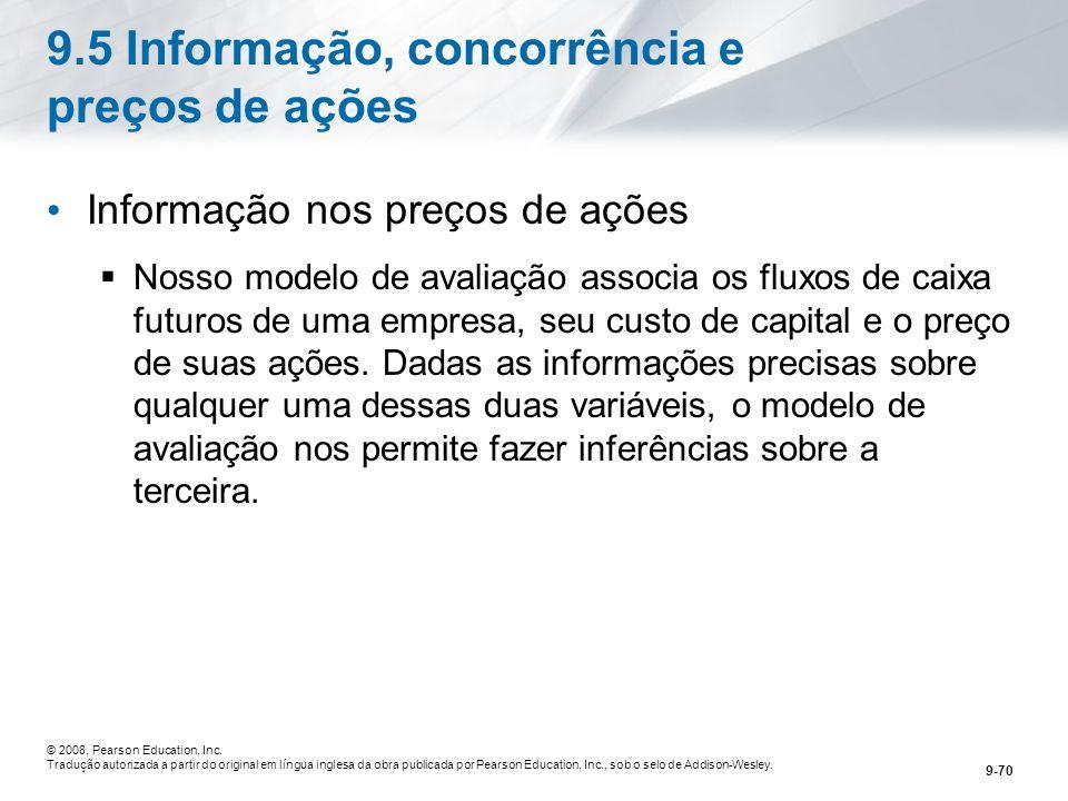 9.5 Informação, concorrência e preços de ações