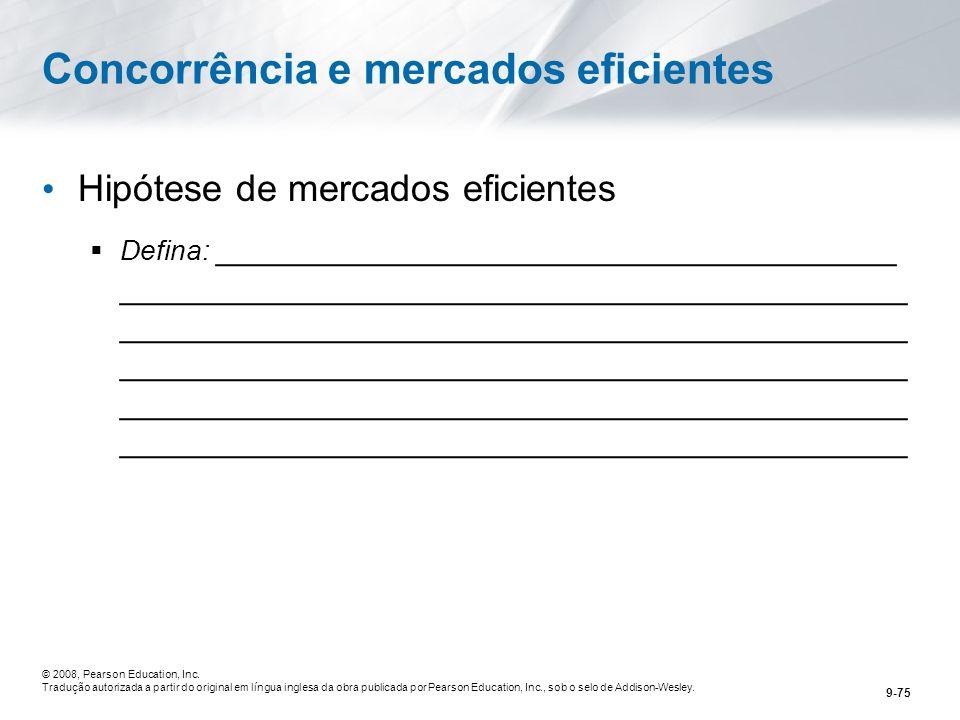 Concorrência e mercados eficientes
