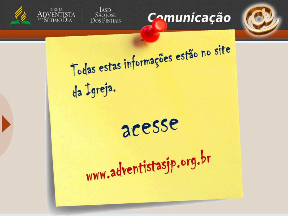 acesse www.adventistasjp.org.br