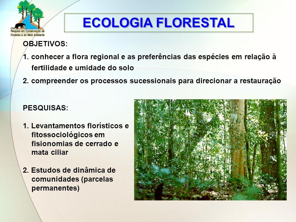 ECOLOGIA FLORESTAL OBJETIVOS: