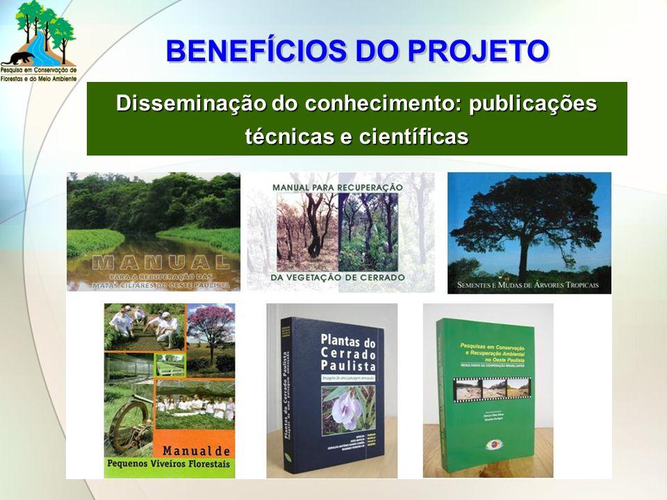 Disseminação do conhecimento: publicações técnicas e científicas
