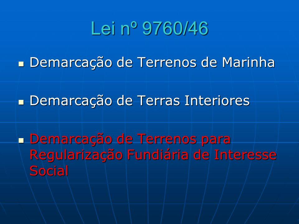 Lei nº 9760/46 Demarcação de Terrenos de Marinha